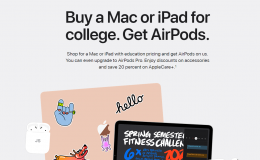Apple 学生返校优惠(送AirPods和充电盒)