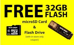 MicroCenter 线下优惠券:免费32GB U盘+免费32GB 内存卡