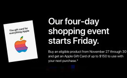 Apple 官方黑五活动最高可得$150礼品卡